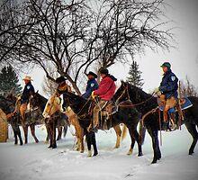 Horse Guard at Gate by Kay Kempton Raade