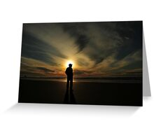SILHOUETTED MAN.. Greeting Card