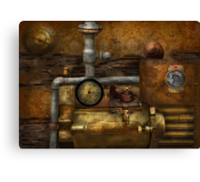 Steampunk - The device Canvas Print