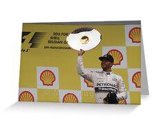 Lewis Hamilton - Belgian GP Podium #F1 Greeting Card