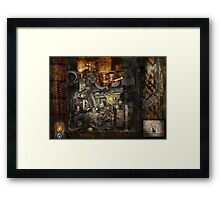 Steampunk - The Turret Computer  Framed Print