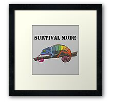 SURVIVAL MODE CHAMELEON Framed Print