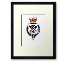 Coat of arms (family crest) for last-name or surname Maxwell (England) . Heraldry banner for your name. Framed Print