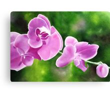 Tropical Allure - Floral artwork Canvas Print