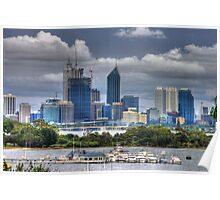 Perth city and the Swan river Poster