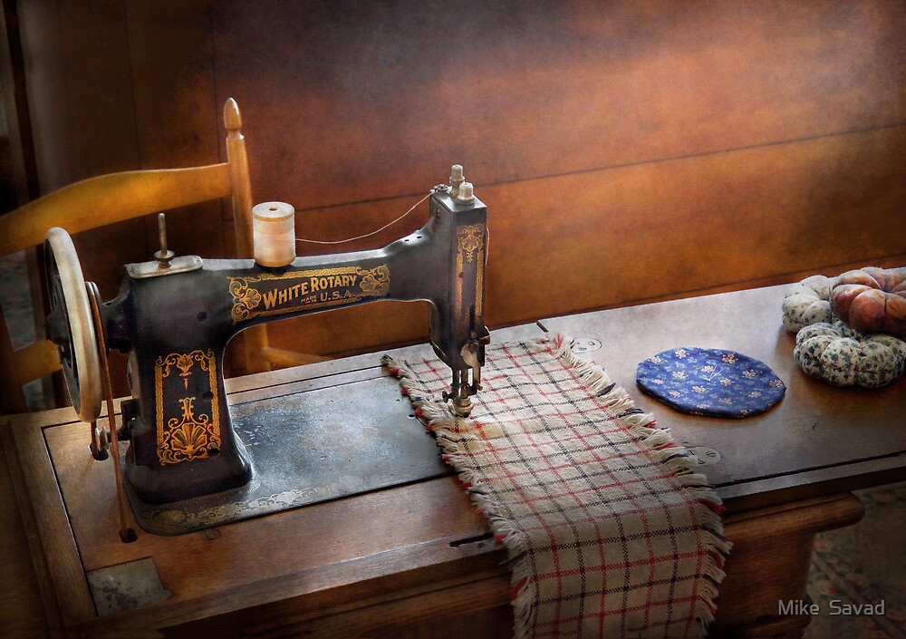Sewing - It's just Black and White  by Mike  Savad