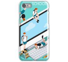 School Devices Set Desktop Personal Computer iPhone Case/Skin