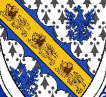 Coat of arms (family crest) for last-name or surname Mayes or Maze (England) . Heraldry banner for your name. Sticker