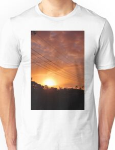 Urban Sunset in Winter Unisex T-Shirt