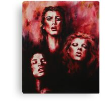 A dying trinity Canvas Print