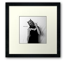 Self Portrait- studio work Framed Print