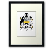 Coat of arms (family crest) for last-name or surname Mayo . Heraldry banner for your name. Framed Print
