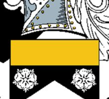 Coat of arms (family crest) for last-name or surname Mayo . Heraldry banner for your name. Sticker