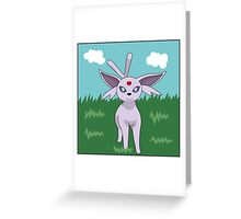 Espeon go! Greeting Card