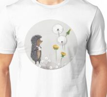 Nursery art - Hedgehog in the Fog Unisex T-Shirt
