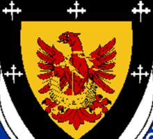 Coat of arms (family crest) for last-name or surname McAllister (Scotland) . Heraldry banner for your name. Sticker