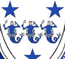 Coat of arms (family crest) for last-name or surname McAuliffe (Ireland) . Heraldry banner for your name. Sticker
