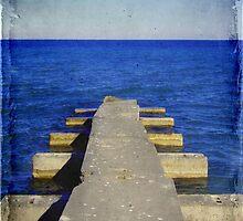 Lake Michigan Pier© by Dawn M. Becker