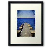 Lake Michigan Pier© Framed Print