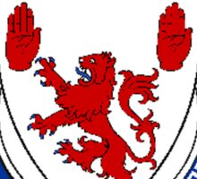 Coat of arms (family crest) for last-name or surname McAwley (Ireland) . Heraldry banner for your name. Sticker