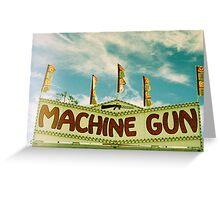 Machine Gun II, Los Angeles, CA October 2010 Greeting Card