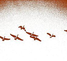 Geese in Flight by kenspics