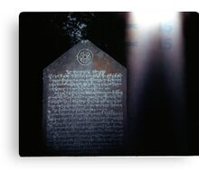 Thai Stela, Thailand, January 2001 Canvas Print