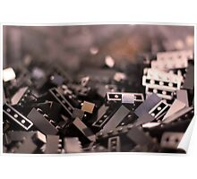 Black Legos  Poster