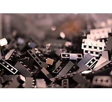 Black Legos  Photographic Print