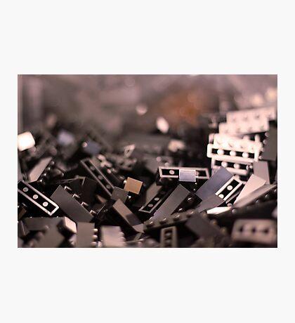 Black Legos  Photographic Print