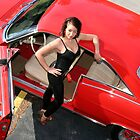 Pin Up Calendar Classic Red Car by Leta Davenport