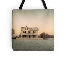 Snowy Abode Tote Bag