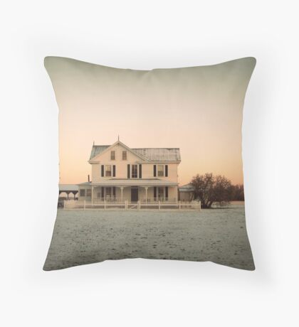 Snowy Abode Throw Pillow