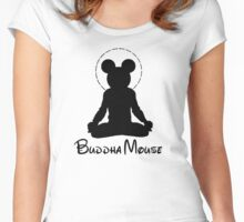 buddha mouse  Women's Fitted Scoop T-Shirt