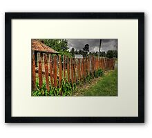 Don't Fence Me In - Hill End, Central NSW,Australia - The HDR Experience Framed Print