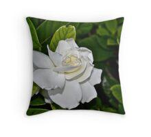 White Gardenia Throw Pillow