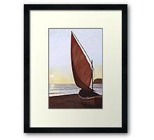 A Red Sail Sunset Framed Print