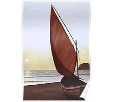 A Red Sail Sunset Poster