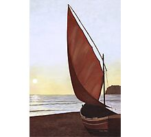 A Red Sail Sunset Photographic Print