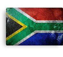 South Africa Grunge Canvas Print