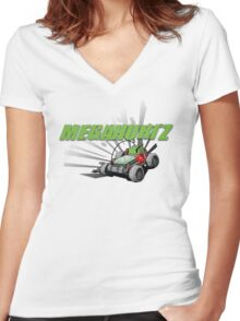 MegaHurtz! Women's Fitted V-Neck T-Shirt