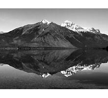 Mirror Reflection in Lake McDonald ~ Black & White Photographic Print