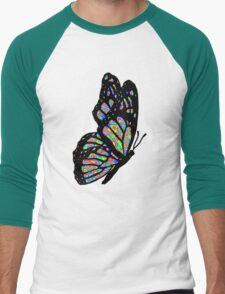 Psychedelic Butterfly Men's Baseball ¾ T-Shirt