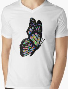Psychedelic Butterfly Mens V-Neck T-Shirt