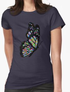 Psychedelic Butterfly Womens Fitted T-Shirt