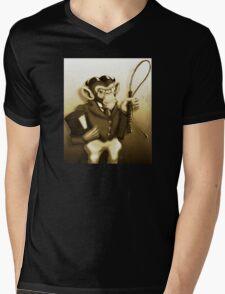 Chimp Ringmaster Mens V-Neck T-Shirt