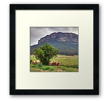 OK Whose Job Was It To Bring the Sunscreen ? - Capertee Valley - The HDR Experience Framed Print