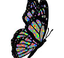 Psychedelic Butterfly by davidharryart
