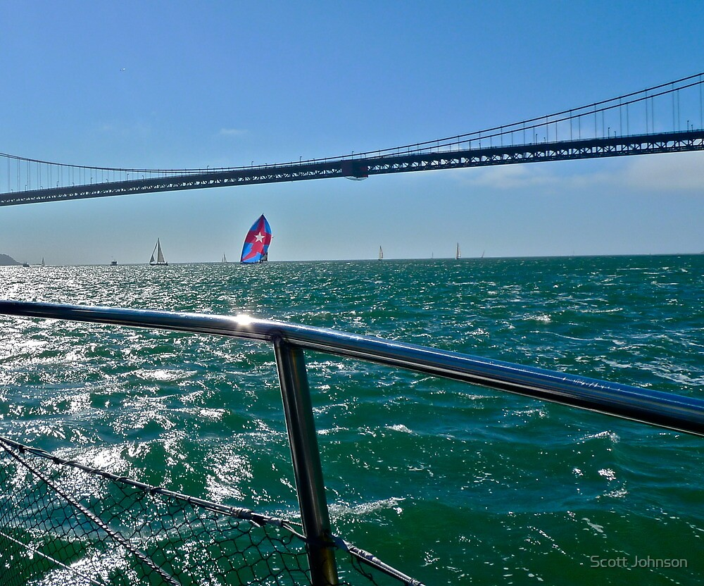 Heading Out The Golden Gate by Scott Johnson