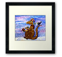 Christmas Roos Framed Print
